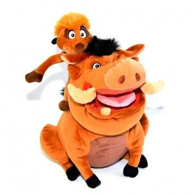 "Disney Parks Lion King Timon & Pumbaa 15"" Plush New"