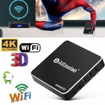 4K Alfawise A8 TV BOX Rockchip 3229 Android 8.1 2GB+16GB 2.4G WiFi 100Mbps H.265