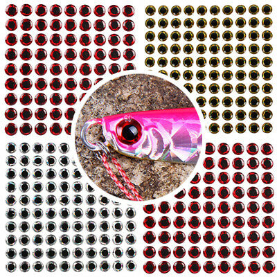 100PCS 3D Holographic Lure Fish  Eyes Stickers For Fly Tying Craft Jigs DIY