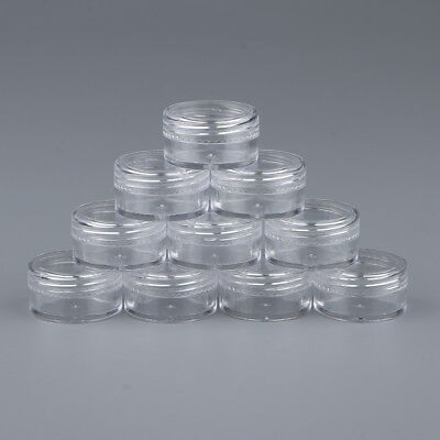 10Pcs Empty Plastic Makeup Sample Containers Travel Round Cosmetic Jar Pot