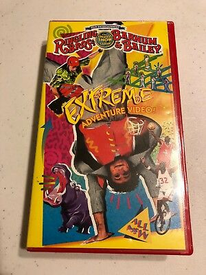 Ringling Bros and Barnum & Bailey Circus 1997 Extreme Adventure Vhs Preowned