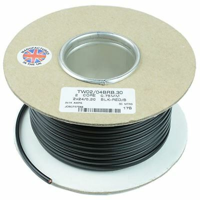 0.75mm² 2-Core Flat Twin Thin Wall Cable Wire 24/0.2mm 30M