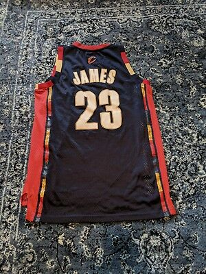 the latest 82291 5bc73 shop cleveland cavaliers 23 lebron james navy blue with gold ...