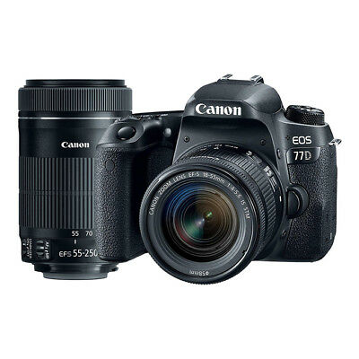 NEU Canon EOS 77D mit EF-S 18-55mm f/4-5.6 IS STM & 55-250mm f/4-5.6 IS STM