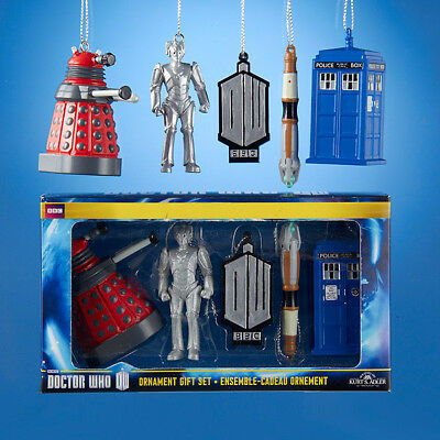 Doctor Who – 2D Gift Set Christmas Ornaments (5-Piece) Officially Licensed Bbc