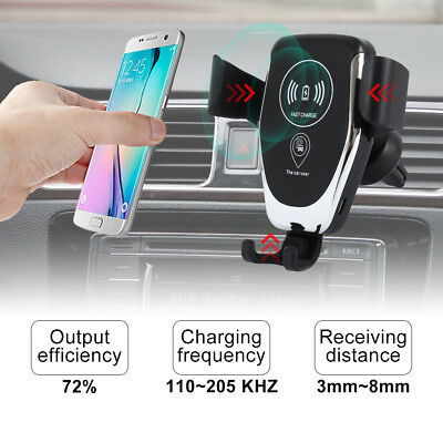 10W QI Wireless Fast Charger Car Mount Holder Stand  For iPhone XS Samsung