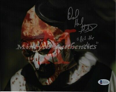 DAVID HOWARD THORNTON AUTO SIGNED 8x10 PHOTO! ART THE CLOWN! TERRIFIER! COA!