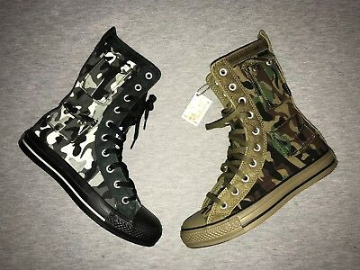 CONVERSE CHUCK TAYLOR Pocket MB XHI  Black White / Military Olive Camo BOOTS NEW