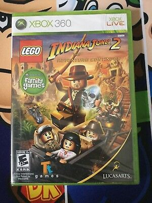 Lego Indiana Jones 2 The Adventure Continues Xbox 360 Brand New And