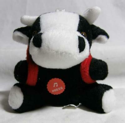 Barcelona Spain Plush Bull with Backpack Key Ring - He Moos