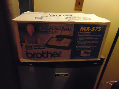 Brother FAX-575 Personal Plain Paper Fax, Phone and Copier Brain New
