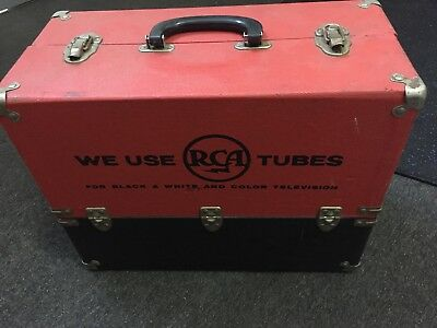 Vintage Americana 50s / 60s RCA VALVE / TUBE TV REPAIR CASE