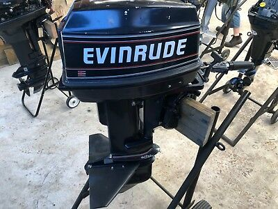 25HP Evinrude outboard 90s starts runs, selling cheap.