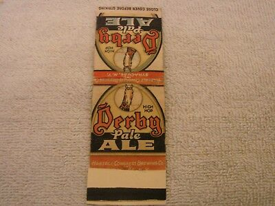 Derby Pale Ale Matchbook Cover Haberale Congress Brewing Co. Syracuse N.y.