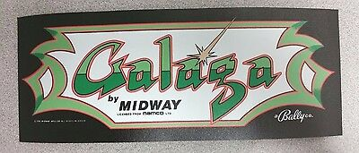 Galaga marquee sticker. 3.75 x 10. (Buy any 3 of my stickers, GET ONE FREE!)
