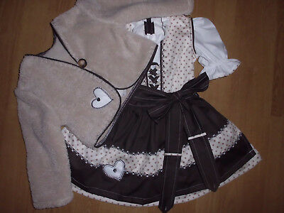 "NEU  Kinder Dirndl  gr. 74/80   mit Jäckchen     ""MADE WITH LOVE"""