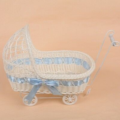 Baby Pram Hamper Wicker Large Basket New Born Baby Shower Party Gifts