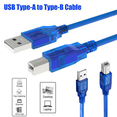 USB Printer Cable Lead Type A to B Male High Speed Scanner Wire Data Cord 0.5-5M