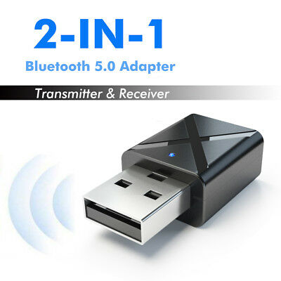 Bluetooth 5.0 Transmitter Receiver 2 in 1 Stereo Audio Adapter with Audio Cable