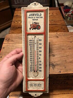 Vintage Jambold Tractor Ih International Harvester Troy Kansas Thermometer Works