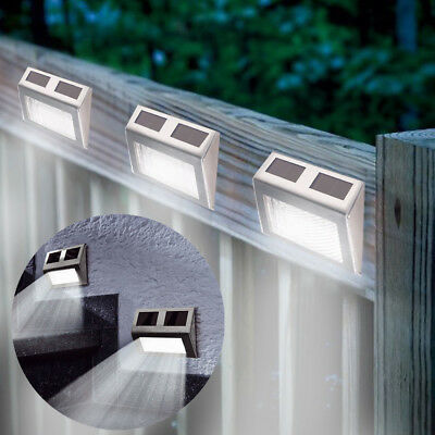 10Xsuper Bright Solar Powered Door Fence Wall Lights Led Outdoor Garden Lighting