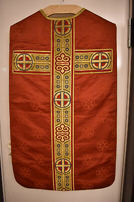 rotes Messgewand, Kasel , Casel, Chasuble (0316)