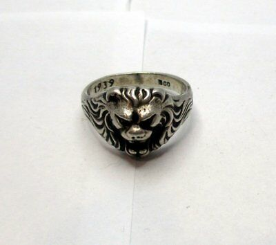 Silver Ring German Berlin 1939 Officer WW2 Military marked