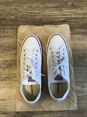 Converse Chuck Taylor All Star Classic Low Top White Size 10 Mens/Size 12 Womens