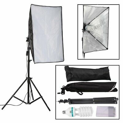 150W Photography Studio Softbox Continuous Lighting + 2m Light Stand + Bulb Kit