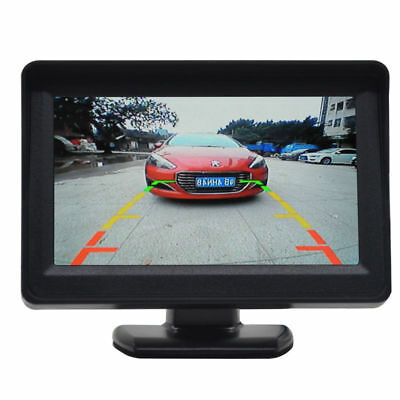 "4.3"" TFT LCD Color Car Rear View Video Monitor For Parking System Backup Camera"