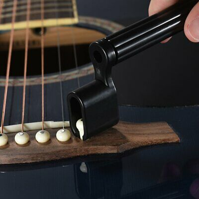 Acoustic Electric Guitar String Winder Tool Peg Bridge Pin Puller/Remover 2 in 1