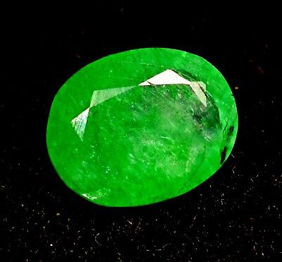 4.70 Ct Natural Green Colombian Emerald GGL Certified Oval Cut Loose Gemstone