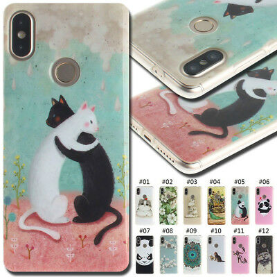 For Xiaomi Fashion Cover Soft Silicone Back Protective Gel TPU Case Painted Skin