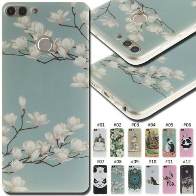 For Huawei Silicone Back Cover Case Shell Cute TPU Protective Various Soft Skin