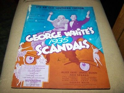 IT'S AN OLD SOUTHERN CUSTOM Piano Guitar Sheet Music from 1935 Shirley Temple