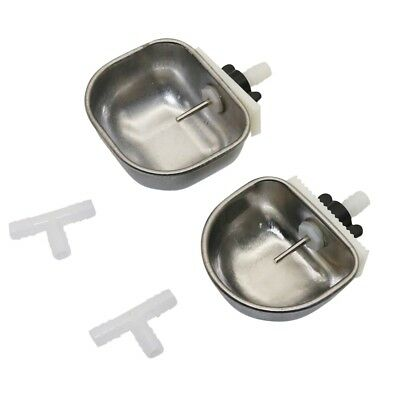 1 Piece Stainless Steel Rabbit Waterer Bowl Small Animal Drinking Water Tool NEW