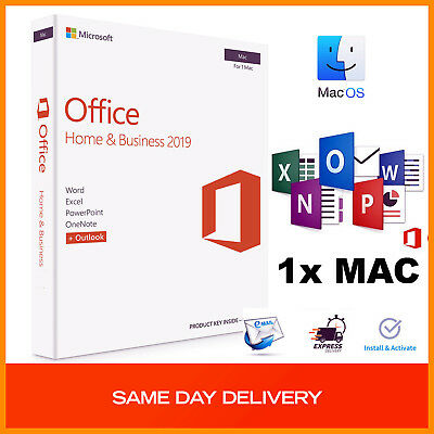 Microsoft Office Home and Business 2019 -For 1x Mac,Multi Users,Lifetime Product