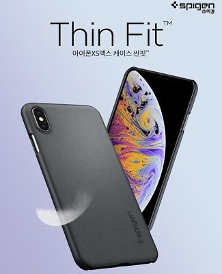 Spigen Thin Fit Premium Slim Hard PC Protective Cover For iPhone X XS Max Case