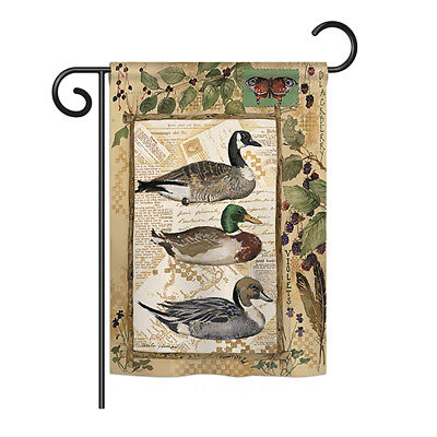Ducks and Geese - Impressions Decorative Garden Flag - G160108-BO