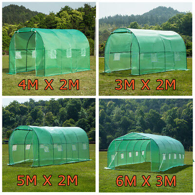 4 Size Walk-in Greenhouse Polly Tunnel Patio Garden Outdoor Polytunnel Frame