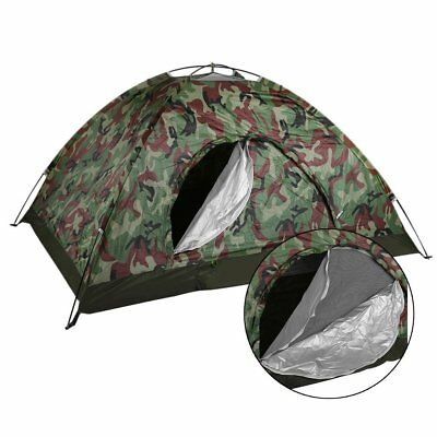 Pop Up Two Persons Dome Tent Waterproof Outdoor Camouflage 3 Season GF