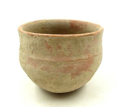 Authentic Ancient Roman Legionary Terracotta Redware Bowl -  L890