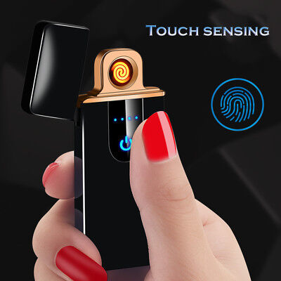 Touch-senstive Switch Lighter Cigarette Lighter USB Lighters Windproof Flameless