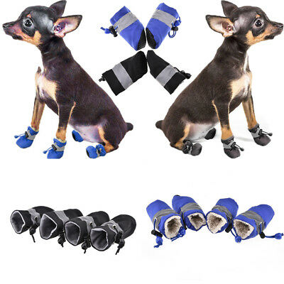 US 4PCS Pet Dog Puppy Waterproof Rain Shoes Boots Bootie Slippers Non-Slip Socks