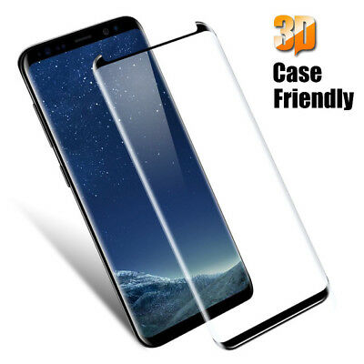 1X 100% Genuine Tempered Glass Screen Protector For Samsung Galaxy S9 Plus Black