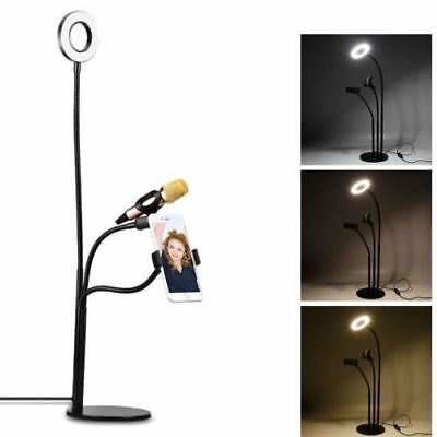 LED Ring Light with Stand Lighting For Makeup Youtube Live Studio Phone Holder
