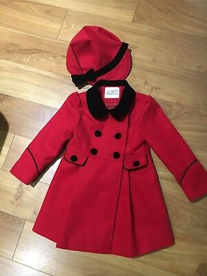 Girls Coat And Hat 18-23months