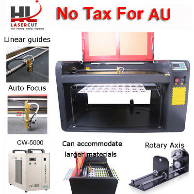 RECI 100W CO2 USB PORT Laser Engraving & Cutting Machine Red-dot Position New!
