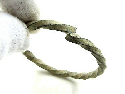 Authentic Medieval Viking Bronze Twisted Fielty Bracelet - H694
