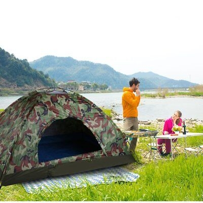2 Man Pop Up Two Person Dome Tent Waterproof Outdoor Camouflage color AH